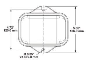 LED Solar Flasher & Warning Light line drawing