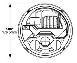 JWS 8700 Evolution 3 LED Headlights line drawing
