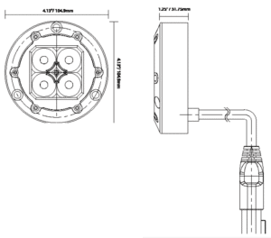 Vision X Komatsu Tail Light Kit line drawing