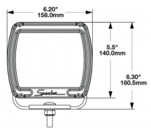 J.W. Speaker Model 526 Dual White Anti-Glare LED Work Light